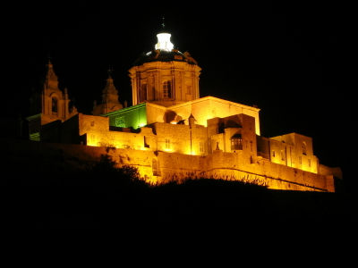 Mdina Cathedral By Night
