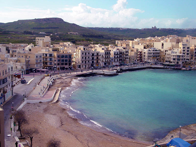 Marsalforn Beach Bay Gozo