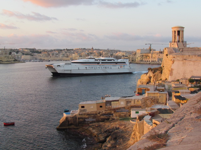 Exit From Valletta Port by D Dalli