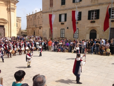 Mdina Medieval Festival - Flag Throwing