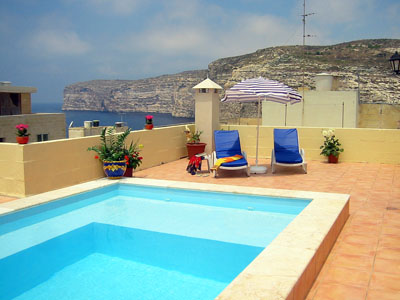 Swimming Pool : Yes Gozo Holiday Apartments R1008   Holiday Malta.com