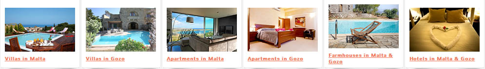 Full List of Apartments and Villas in Malta and Gozo